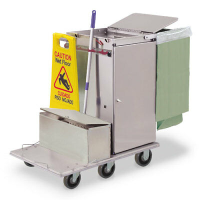 Royce Rolls #F30-LST1E Stainless Steel Mini-Size Microfiber Housekeeping Cart