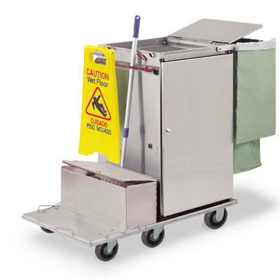 Royce Rolls #F2436-LST1E Stainless Steel Wide-Size Microfiber Housekeeping Cart
