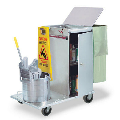 Royce Rolls #C30-04E Stainless Steel Mini-Size Non-Folding Housekeeping Cart