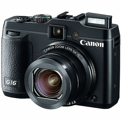 Canon PowerShot G16 12.1 MP Digital Camera - Black  New