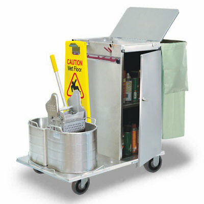 Royce Rolls #C30-08E Stainless Steel Mini-Size Non-Folding Housekeeping Cart