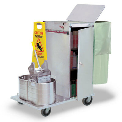 Royce Rolls #C36-08E Stainless Steel Std-Size Non-Folding Housekeeping Cart