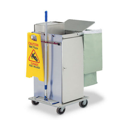 Royce Rolls #MP36E Stainless Steel Std-Size Microfiber Housekeeping Cart