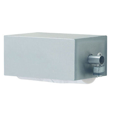 Royce Rolls Model #CTP-2 Stainless Steel Covered Double (Two-Roll) TP Dispenser