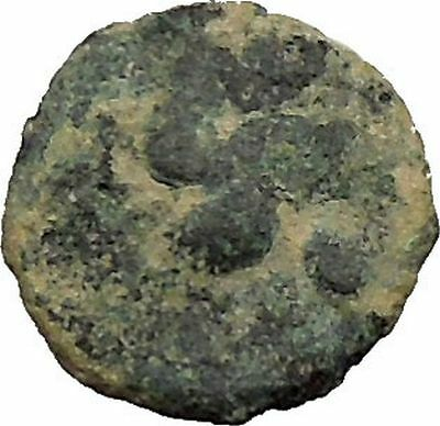 BERYTOS in PHOENICIA 218AD Satyr Marsyas Galley Ship   Ancient Greek Coin i36678