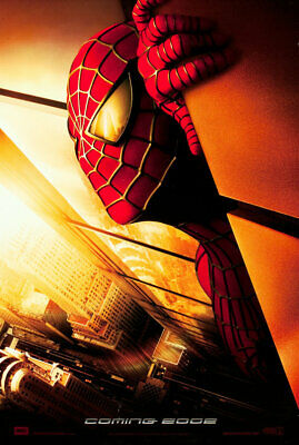 Marvel SPIDER-MAN 2002 WTC Advance Recalled DS 2 Sided 27x40' US Movie Poster