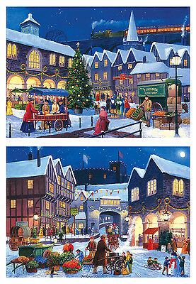 Gibsons Christmas Eve Jigsaw Puzzles (2 x 500 Pieces) - Brand New Gibson