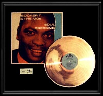 Booker T And Mgs Rare Stax Soul Dressing Rare Lp Gold Record Disc Album Frame