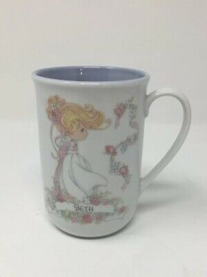 """Precious Moments Mug/Cup with Name """"Beth"""" (Virtuous, Tender, And Warm)"""
