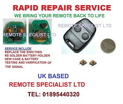 LANDROVER Discovery Freelander Defender Remote fob key Repair Service Faulty Fix