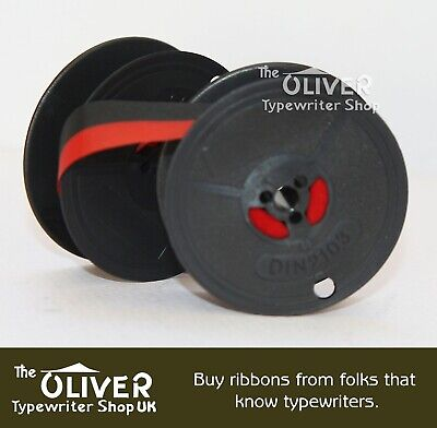 Adler Red and Black Typewriter Ribbon and Spool for Manual Machines