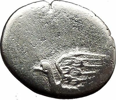 Greek City of SIKYON 1st Century BC Ancient  Silver Coin Dove Monogram i36787