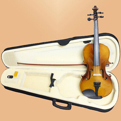 Acoustic 4/4 Size Violin Music Instrument 4/4 Violin Bow+Rosin+Case-Vintage-938#