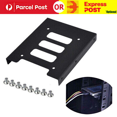 2.5 inch SSD HDD To 3.5 inch Metal Mounting Adapter Bracket Dock for PC Black AU