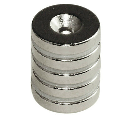 "CMS Magnetics® N42 Neodymium Disc Magnet 5/8""x 1/8"" w/#6 Countersunk Hole 6-pc"