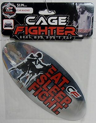MMA Authentic Cage Fighter Car Fridge Magnet, Eat Sleep Fight, BRAND NEW SEALED