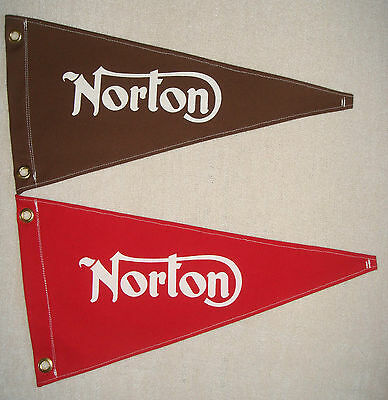 Norton Motorcycle Vintage Style Reproduction Pennant Advertising Flag Retro New
