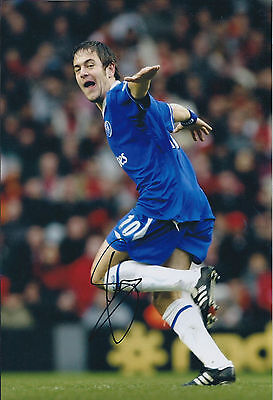 Joe COLE SIGNED COA Autograph 12x8 Photo AFTAL CHELSEA West Ham United
