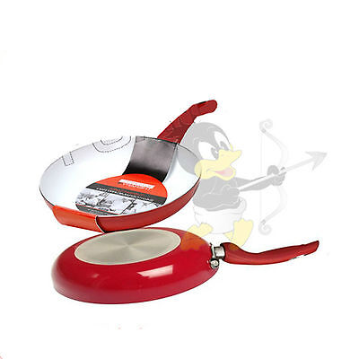 Kitchen Therapy 24cm Red Ceramic Coated Frying Pan Non Stick Cooking Aluminium