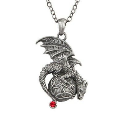 Mystica Collection Fashion Necklace Celtic Dragon with Orb Accessory Lead Free