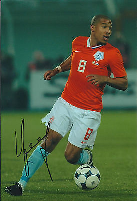 Nigel DE JONG Signed 12x8 Photo AFTAL COA Autograph Manchester City HOLLAND RARE