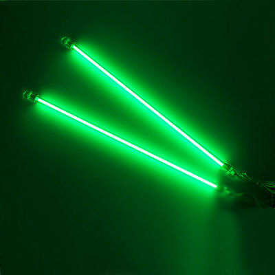 """2PCS Green 12"""" CCFL Cold Cathode Car Interior Lights Kit PC Bright US Delivery"""
