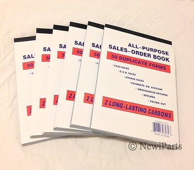Lot of 100~Sales Order Books/Receipts~50 Duplicate Forms ...
