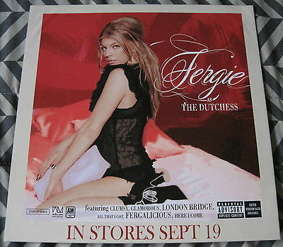 Fergie The Dutchess  Album Record Poster by A&M Records