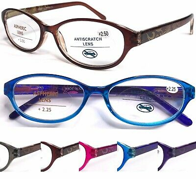 L374 Superb Quality Graceful Womens Reading Glasses/Spring Hinges/Retro Pattern