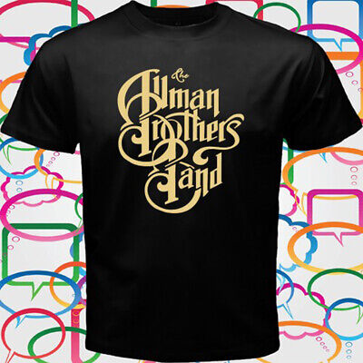 THE ALLMAN BROTHERS Blues Rock Band Men's Black T-Shirt Size S to 3XL