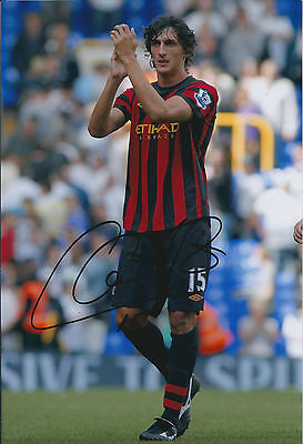 Stefan SAVIC Signed Autograph 12x8 Photo AFTAL COA Manchester City Serbia