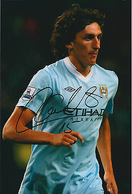 Stefan SAVIC Signed Autograph 12x8 Photo AFTAL COA Man City Blue Moon Serbia