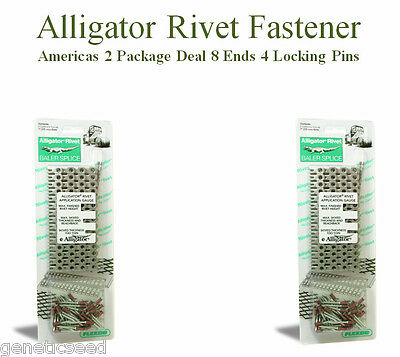 "Alligator Rivet 7"" Fasteners 8 Ends 4 Pins Baler Belts Repairs ARJ7/175"