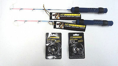 """Ice Blue Combo comes w/MFR-1 Reel & 18"""" IB-18 Rod, You Get 2 Sets, for Pan Fish"""