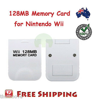 128Mb 128 Mb 128M Memory Card For Nintendo Wii Gamecube Au
