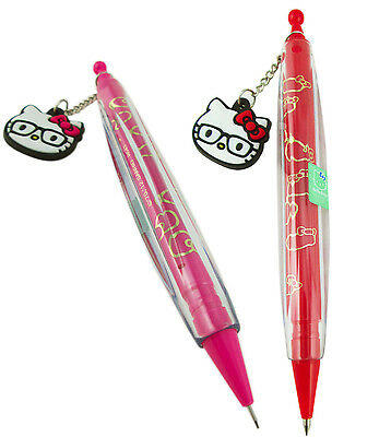 2 Units ~ New Sanrio Hello Kitty Pen and Pencil Set w/ rubber charm