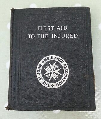 Vintage.the St John Ambulance Association.first Aid To The Injured.39Th Edition