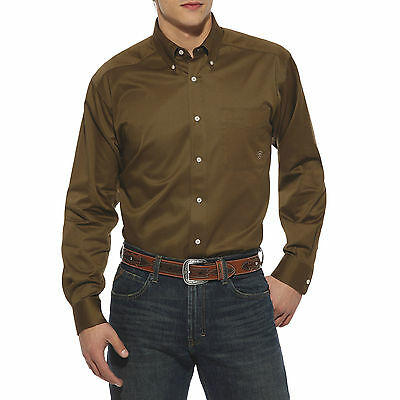 ARIAT - Men's Solid Twill Shirt - Earth - ( 10009118 ) - New