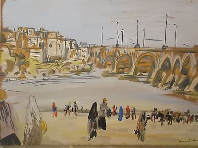 orientalist painting 1957. Signed
