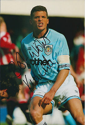 Keith CURLE Signed Autograph 12x8 Photo AFTAL COA Manchester City Genuine