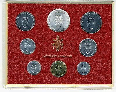 The Vatican - 1975 -  8 pc. Mint Set - KM MS 80