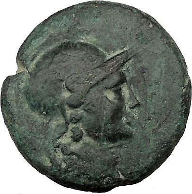 Pergamon in Asia Minor 133BC  Rare Ancient Greek Coin Athena Cult Nike i36884