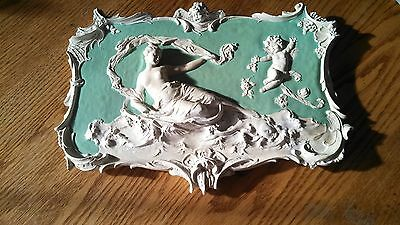 shaffer and vator German ?  Plaque  Porcelain plaster rectangular 9 1/2""