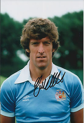 Tommy BOOTH Signed Autograph 12x8 Photo AFTAL COA Manchester City ENGLAND Cap