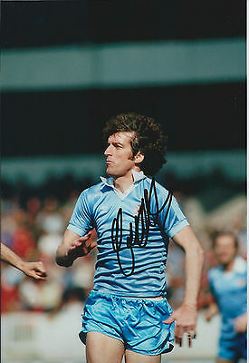 Tommy BOOTH Signed Autograph 12x8 Photo AFTAL COA Manchester City ENGLAND RARE