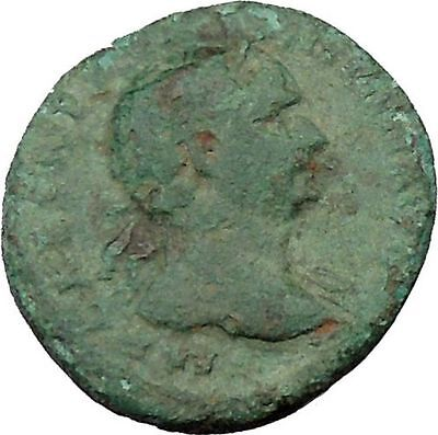"""TRAJAN 98AD RARE She Wolf """"Mother"""" to Romulus & Remus Ancient Roman Coin i36943"""
