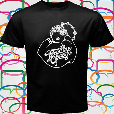 New Paradise Garage Logo Men's Black T-Shirt Size S-3XL