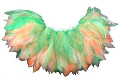 Neon Tutu Skirt Green White Oranage Irish Fancy Dress Hen Party St Patrick's Day
