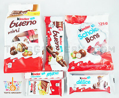 Ferrero KINDER Chocolate AWESOME PARTY MIX Bueno Country Delice