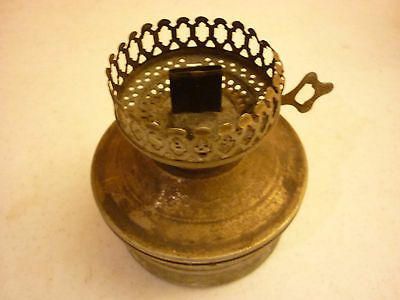 Vintage Antique Oil Kerosine Lamp - Tin Metal - As is - No shade